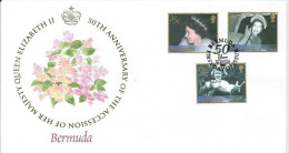 FDC 50TH ANNIVERSARY OF THE ACCESSION OF HER MAJESTY QUEEN ELIZABETH II - Bermudes