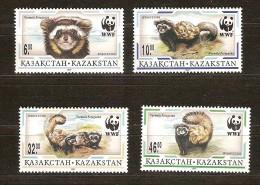Kazakhstan 1997 Yvertn° 124-27 *** MNH Cote 5 Euro Faune WWF - Kazakhstan