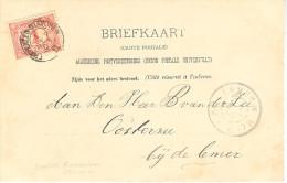 1903 Kleinrond Bootstempel ENKHUIZEN-STAVOREN II Op Ansicht Naar DE LEMMER - Periodo 1891 – 1948 (Wilhelmina)