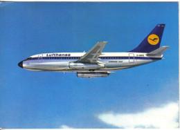 Carte Postale Avion Boeing  737 City Jet De La LUFTHANSA   Trés Beau Plan