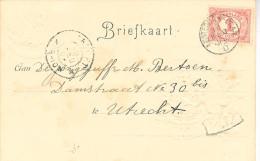 1902 Kleinrond AMSTERDAM-EDAM D  Op Ansicht Naar Utrecht - Periode 1891-1948 (Wilhelmina)