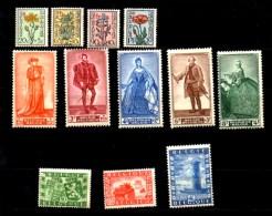 1949 Portraits Sénat IV Et Union Belgo-Britannique, 814 / 825*, Cote 52,50 €, - Ongebruikt