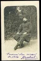 Cpa Carte Photo Du 34 à L' Hôpital 24 à Montpellier -- Souvenir D' Un Rescapé De 1914   MAI15 9 - Montpellier