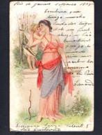 Angel Cupid Erotic  Vintage Original Ca1900 Vintage Original Postcard Cpa Ak (W4_1111) - Angeles