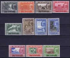 Malaya Kedah  Mi Nr 95 - 105  SG  92 - 102  MH/*   1959 - Kedah