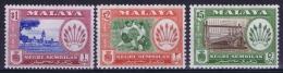 Malaya Negri Sembilan  Mi Nr75 - 77  SG  92 - 94  MNH/**   1957 - Negri Sembilan