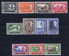 Malaya Treangganu  Mi Nr  76 - 86  SG  89 - 99 MH/*  1957 - Trengganu