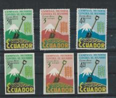 EC - 1963 - 1092-1094 - HAMBRE- HUNGER - IMPORFORATED - 3 VALUES - POSTFRISCH -MNH - ** - Equateur