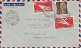 Spanien / Spain - Umschlag Echt Gelaufen / Cover Used (Y721) - 1951-60 Cartas