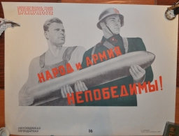 RUSSIA  POSTER ARMY ROCKET BOMB
