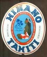 Tahiti Beer Beer Label Hinano - Birra