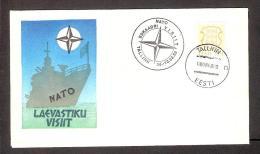 Military Estonia 1992 Postmark NATO Navy Visit On Souvenir Cover - Estonie