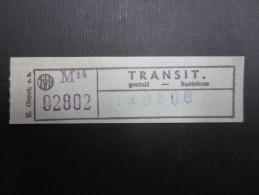 TICKET TRAM MIVB - STIB (M1515) Billet de transit (gratuit) (2 vues)