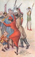 CARICATURE GUERRE 1914 ITALIA HERR GOTT   CARTE ITALIE ANTI ALLEMANDE  KRIEG VATERLANDSLIEBE PROPAGANDA - Guerre 1914-18
