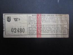 TICKET TRAM (M1515) Billet pour voyage scind� (2 vues) n�2480