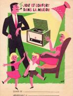 Protège Cahier, Joie Et Confort Dans La Maison, - Buvards, Protège-cahiers Illustrés