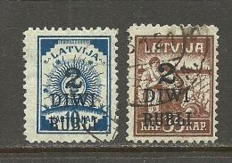 LETTLAND Latvia 1919 Michel 58 - 59 O - Latvia