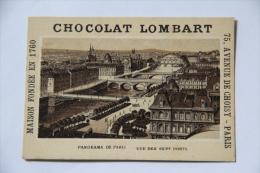 Chocolat Lombart - Panorama De PARIS , Vue Des Sept Ponts - Lombart