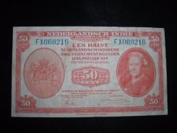 Dutch East Indies,50 Cent,1,5 - Bankbiljetten