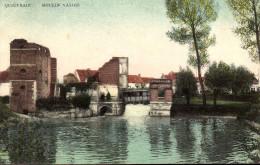 """Quiévrain - Carte En Couleur - Moulin Valois - Ed: Thiry Fières, Dour - Circulé: 1908 - Etat: """"Pli Coin Sup Gauche"""" - Quiévrain"""