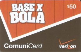 TARJETA DE REP. DOMINICANA DE 50$ BASE X BOLA DE VERIZON
