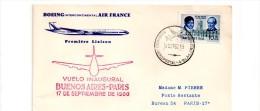 385 Buenos Aires Paris  Air France 16.6.1960 - Poste Aérienne