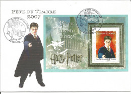 Harry Potter Bloc Feuillet Sur Lettre Oblitérés Cachet 1er Jour - 2007