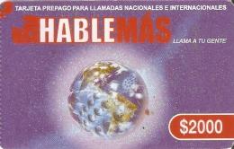 TARJETA DE CHILE DE HABLEMAS DE $2000 - Chile