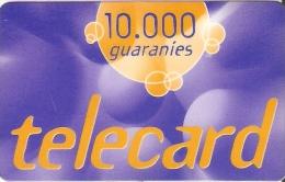 TARJETA DE PARAGUAY DE TELECARD DE10000 GUARANIES - Paraguay