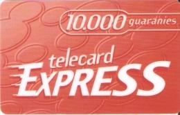 TARJETA DE PARAGUAY DE TELECARD EXPRESS DE10000 GUARANIES - Paraguay