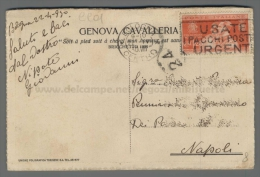 C901 Storia Postale 1930 NOZZE PRINCIPE UMBERTO I Cent 20 GENOVA CAVALLERIA (tur) - Marcofilía