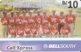 TARJETA DE PANAMA DE BELLSOUTH DE CAMPEONES LATINOAMERICANOS DE PEQUEÑAS LIGAS - Panama