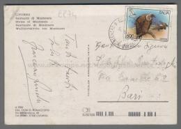 C974 Italia Storia Postale 1995 UCCELLI GRIFONE Lire 600 Piega (tur) - 6. 1946-.. Repubblica