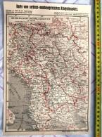 ILLUSTRATION GUERRE 14-18 KARTE CARTE SERBIE MONTENEGRO ALBANIE 1914 1915 - Documentos Antiguos