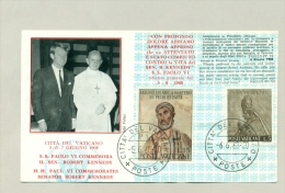 Poste Vaticane - 1968 - HH Paul VI Commemorates Senator Robert Kennedy