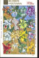 GUYANA   2368 OP PHILA NIPPON'91 2593  9226  MINT NEVER HINGED MINI SHEETS OF FLOWERS - ORCHIDS - Orchidee