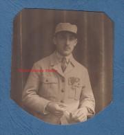 Photo Ancienne - Portrait D'un Poilu Du 129e Régiment - Voir Uniforme , Cravate , Médaille Croix De Guerre - WW1 - Guerra, Militares