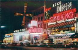 75 - PARIS - Le Moulin Rouge La Nuit - Parijs Bij Nacht