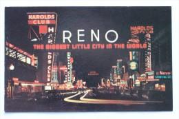 VIRGINIA STREET AT NIGHT, RENO, NEVADA