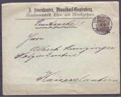 Germany1896: Michel47EF Cover To Kaiserslautern - Lettres & Documents