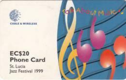 ST.LUCIA ISL.(GPT) - Jazz Festival 1999, CN : 288CSLB, Tirage 20000, Used - Saint Lucia