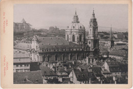 CDV Foto ? Kabinettfoto ? Hartpappe Prag Praha St Niklaskirche Chram Sv. Mikulase Tschechien Böhmen Ceska Cesky Tchequie - Fotos