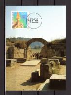 "LIECHTENSTEIN 2004 : Carte Maximum "" J.O. D'ATHENES "". Parfait état. (MK 228) CM - Zomer 2004: Athene"