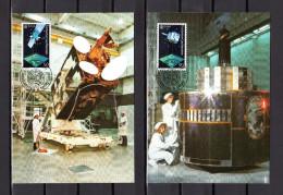 """LIECHTENSTEIN 1991 : 2 Carte Maximum """" EUROPA 1991 : SATELITTE """" Parfait état. (MK 100) CM - Raumfahrt"""