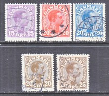 DENMARK    102-6     (o) - Used Stamps