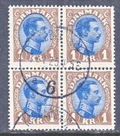 DENMARK    128x4   (o) - 1913-47 (Christian X)