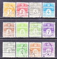 DENMARK    85-96     (o)   Wm 114  Cross - Used Stamps