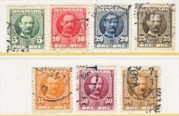 DENMARK    72-8    (o) - Used Stamps
