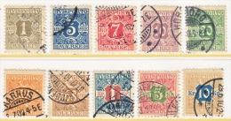 DENMARK    P 1-10   (o)   Wm 113  Crown - 1905-12 (Frederik VIII)