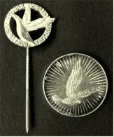 Kleine Medaille Mit Anstecknadel 925 Silber - Verband Deutscher Brieftauben-Liebhaber E.V.  - Im Etui - Vereinswesen